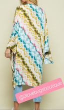 Load image into Gallery viewer, Multi Color Tie Dye Kimono Robe - 3lovebugsboutique