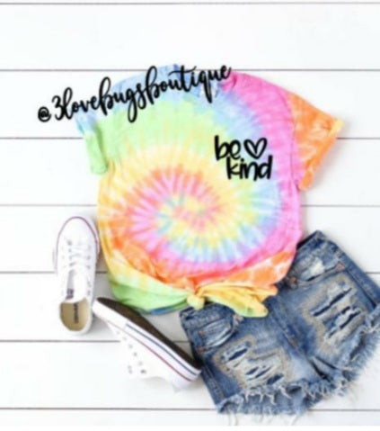 Be Kind Tie Dye - 3lovebugsboutique