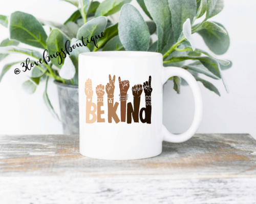 Be Kind ASL Sign Language Mug - 3lovebugsboutique