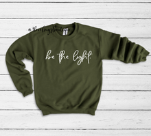 Load image into Gallery viewer, Be The Light Sweatshirt - 3lovebugsboutique