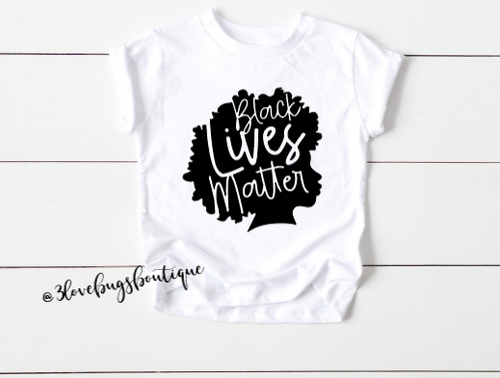 Black Women Matter Kids Shirt - 3lovebugsboutique