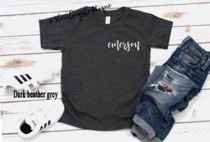 Custom Pocket Kids Name Tee - 3lovebugsboutique