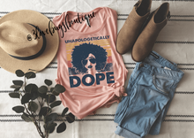 Load image into Gallery viewer, Unapologetically Dope Ladies Muscle Tank(Vintage) - 3lovebugsboutique