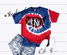 Load image into Gallery viewer, Merica Tie Dye-Red and Royal - 3lovebugsboutique