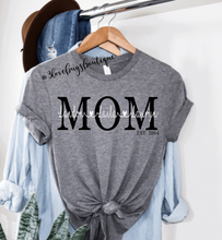 Load image into Gallery viewer, Mom kids name shirt