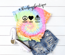 Load image into Gallery viewer, Peach Love Teach Tie Dye - 3lovebugsboutique