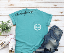 Load image into Gallery viewer, Comfort Color Pray Pocket Tee - 3lovebugsboutique