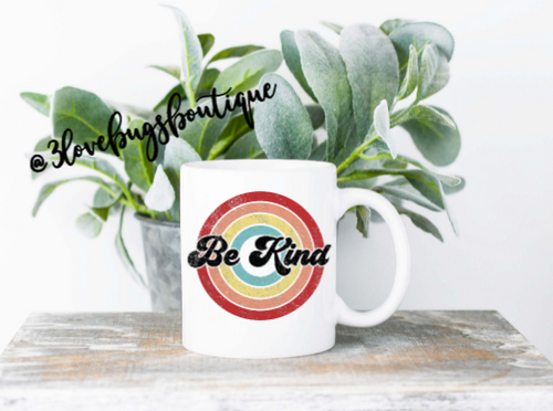 Retro Be Kind Mug - 3lovebugsboutique