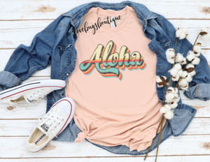Aloha RetroT-shirt(Vintage) - 3lovebugsboutique