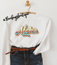 Load image into Gallery viewer, Retro Aloha Sweatshirt(Vintage) - 3lovebugsboutique