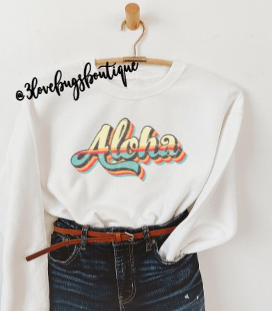 Retro Aloha Sweatshirt(Vintage) - 3lovebugsboutique