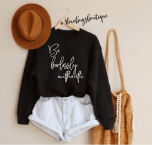 Load image into Gallery viewer, Be Fearless Authentic Sweatshirt - 3lovebugsboutique