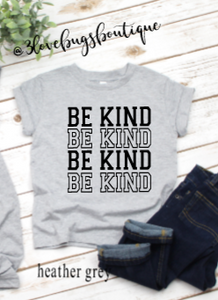 Toddler Be Kind Kids Tee - 3lovebugsboutique
