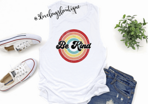 Retro Be Kind Muscle Tank(Vintage) - 3lovebugsboutique