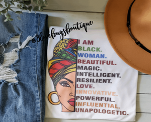 I am a Black Woman T-shirt(Vintage) - 3lovebugsboutique
