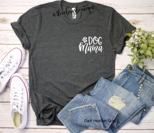 Dog Mama Pocket Tee - 3lovebugsboutique