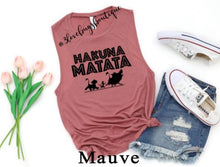 Load image into Gallery viewer, Hakuna Matata Muscle Tank - 3lovebugsboutique