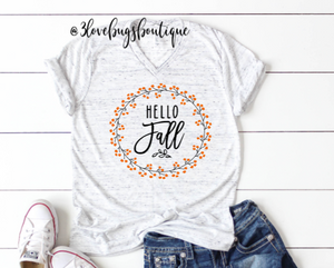 Hello Fall Shirt - 3lovebugsboutique