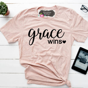 Grace Wins Shirt - 3lovebugsboutique