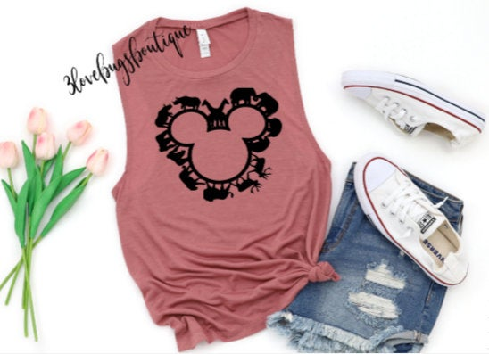 Animal Kingdom Disney Muscle Tank - 3lovebugsboutique