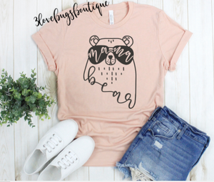 Mama bear Shirt,Momma bear shirt,Mothers day gift - 3lovebugsboutique