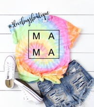 Load image into Gallery viewer, MAMA Tie Dye Shirt