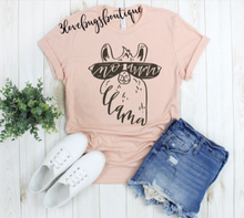 Load image into Gallery viewer, Momma Llama Shirt,Momma shirt,Llama shirt - 3lovebugsboutique