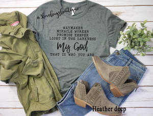 Waymaker/My God Shirt - 3lovebugsboutique