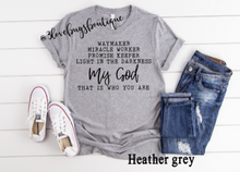 Load image into Gallery viewer, Waymaker/My God Shirt - 3lovebugsboutique