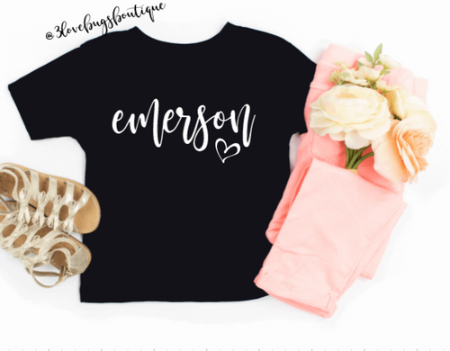 Custom Kids Name Tee - 3lovebugsboutique