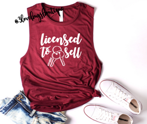 License to Sell ladies muscle tank - 3lovebugsboutique