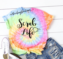 Load image into Gallery viewer, Scrub Life Tie Dye - 3lovebugsboutique