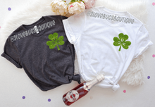 Load image into Gallery viewer, St Patrick shirt-pocket glitter design