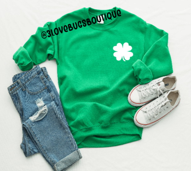 Pocket Shamrock Sweatshirt