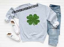 Load image into Gallery viewer, Shamrock Sweatshirt-Green Glitter