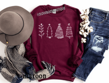 Load image into Gallery viewer, Christmas Trees Sweatshirt