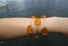 Orange Sea Glass Bangle