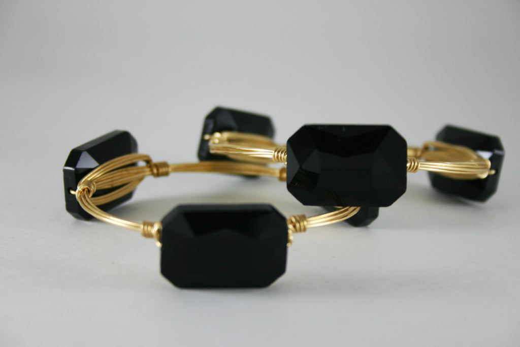 Black Crystal Bangle
