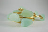 Sea Foam Green Sea Glass Bangle