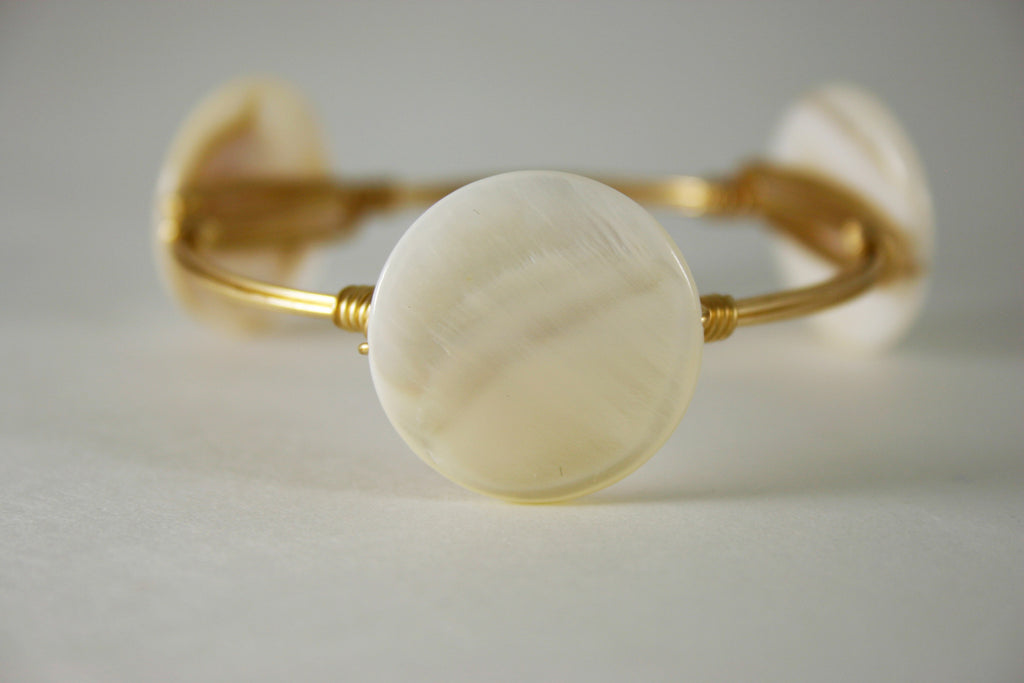 Mother of Pearl Disc Bangle