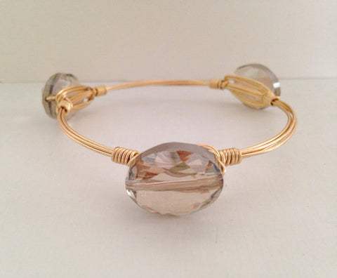 Champagne Crystal Bangle