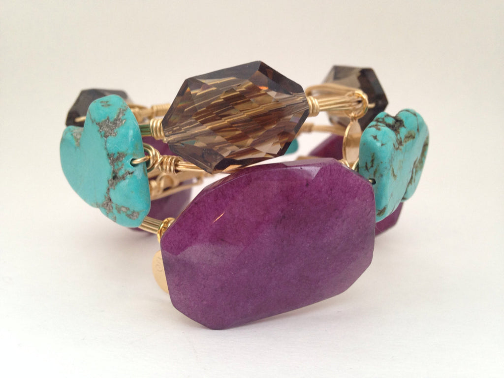 Plum Jade Bangle