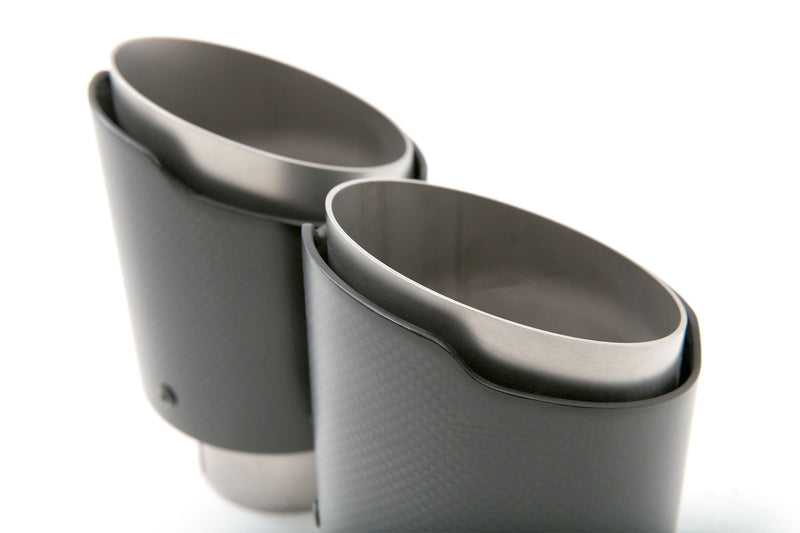 cp-e Carbon Fiber Ford Focus RS Exhaust Tips (Cut Edge)