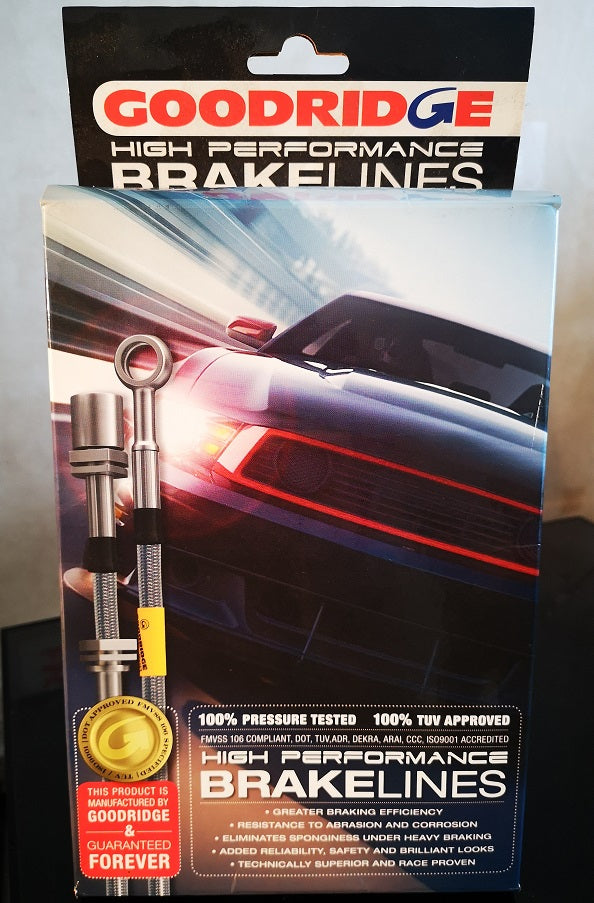 Goodridge braided brake lines for S550 Mustang GT and Ecoboost