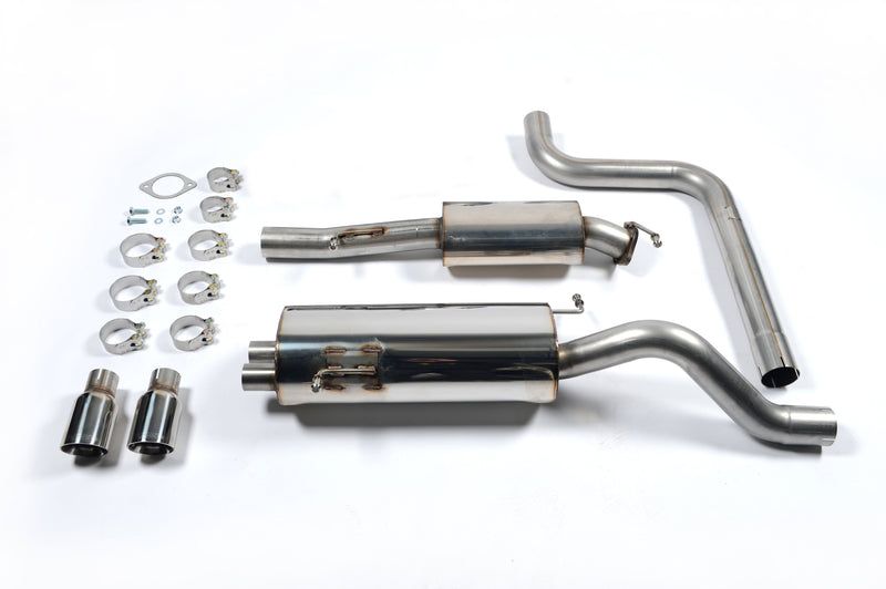 Milltek Resonated Catback Exhaust for MK7 Fiesta ST with Polished Tips