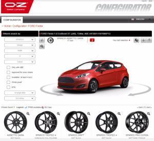 OZ Racing Wheel Configurator