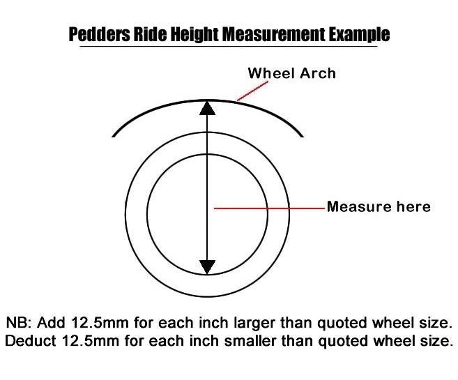"Pedders Ranger 43mm (1.75"") Lift kit."