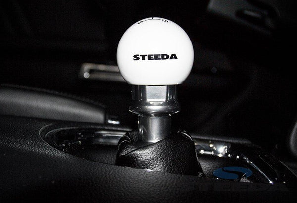 Steeda Cue Ball Shift Knob - White