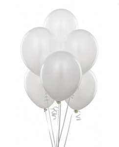 Balloon Bouquets - All White Balloons