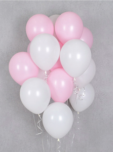 Balloon Bouquets - Pink & White Balloons